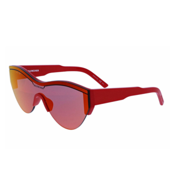 Balenciaga® Mask Sunglasses: BB0004S color Red 003.