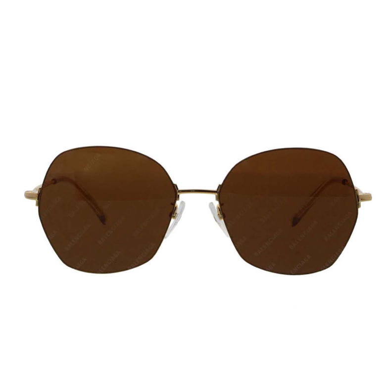Balenciaga® Irregular Sunglasses: BB0014S color Gold 005.