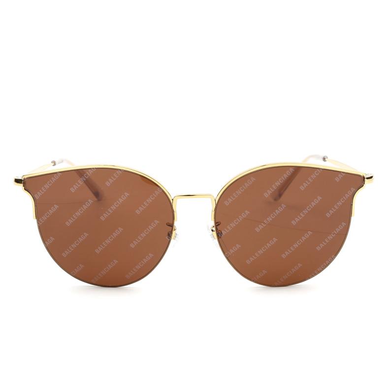 Balenciaga® Butterfly Sunglasses: BB0021SK color Gold 005.