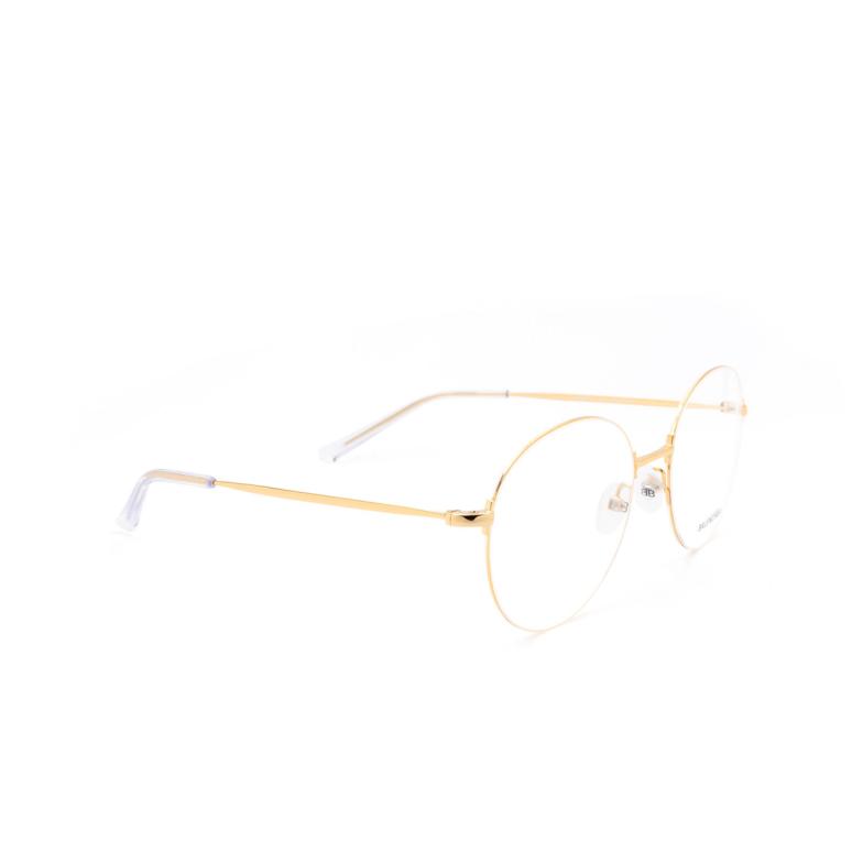 Balenciaga® Round Eyeglasses: BB0035O color Gold 003.