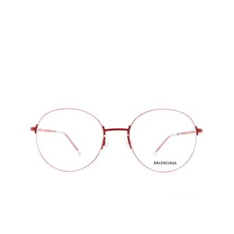 Balenciaga® Round Eyeglasses: BB0035O color Red 004.
