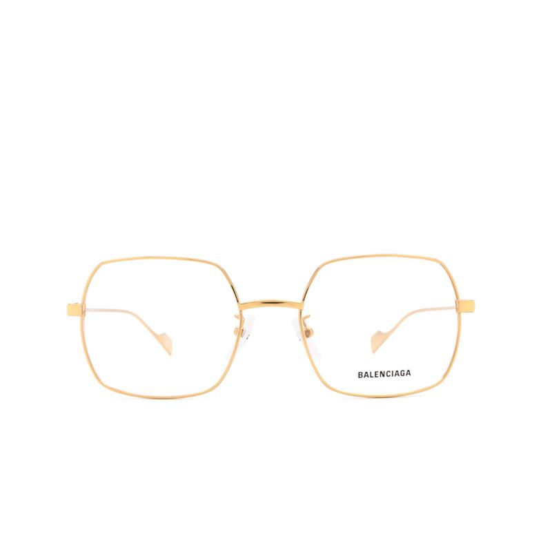 Balenciaga® Irregular Eyeglasses: BB0090O color Gold 003.