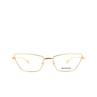 Balenciaga® Cat-eye Eyeglasses: BB0091O color Gold 003.