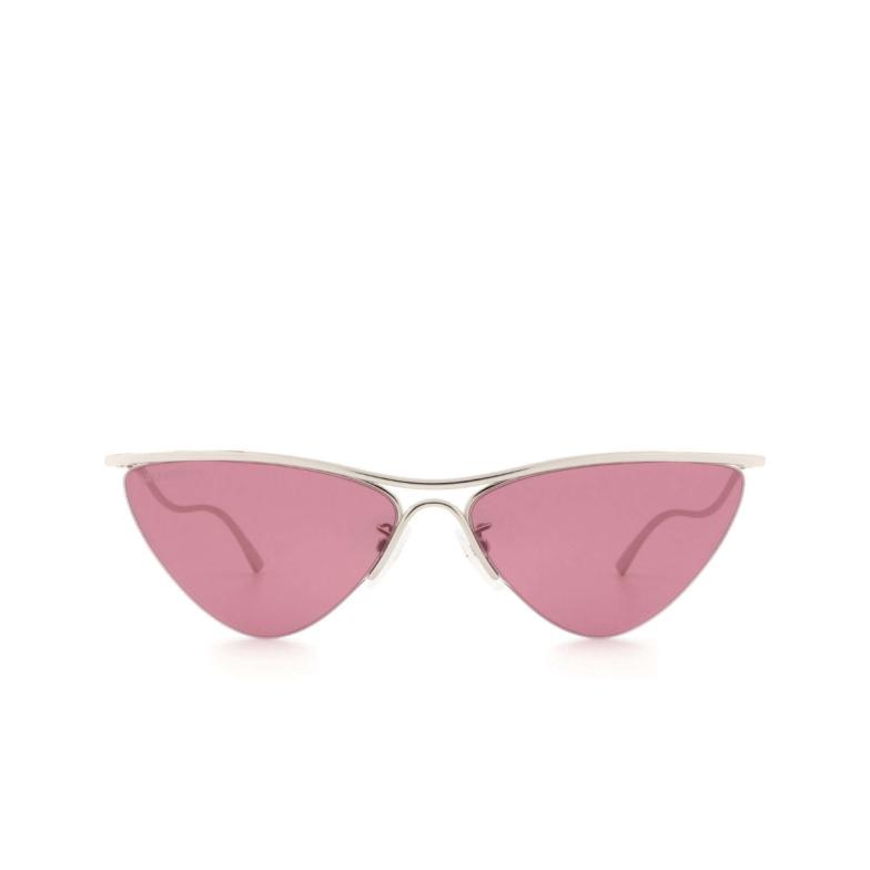 Balenciaga® Irregular Sunglasses: BB0093S color Silver 003.