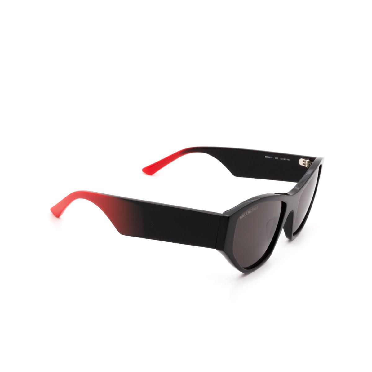 Balenciaga® Cat-eye Sunglasses: BB0097S color Black 002.