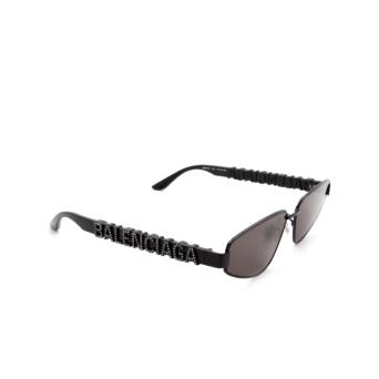 Balenciaga® Irregular Sunglasses: BB0107S color Black 004.