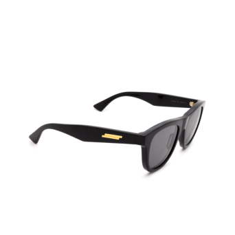 Bottega Veneta® Square Sunglasses: BV1001S color Black 001.