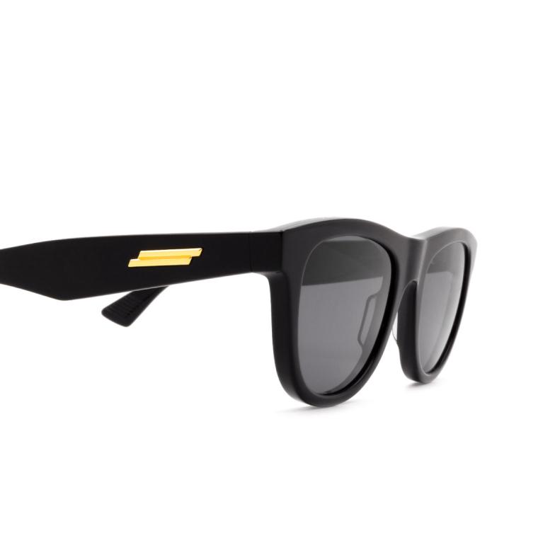Bottega Veneta® Square Sunglasses: BV1001S color Black 001.