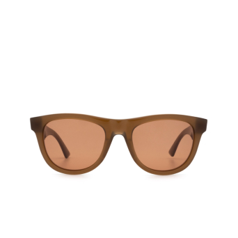 Bottega Veneta® Square Sunglasses: BV1001S color Brown 003.