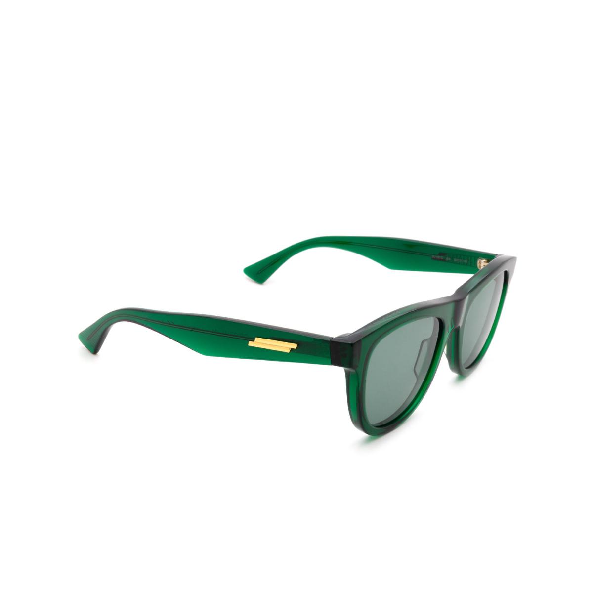 Bottega Veneta® Square Sunglasses: BV1001S color Green 004.