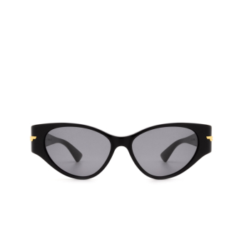 Bottega Veneta® Cat-eye Sunglasses: BV1002S color Black 001.