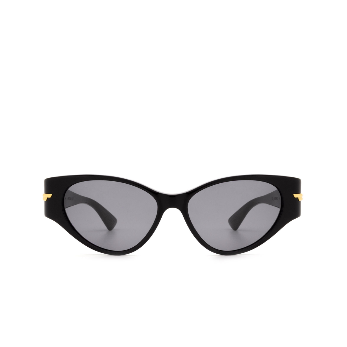 Bottega Veneta® Cat-eye Sunglasses: BV1002S color Black 001.