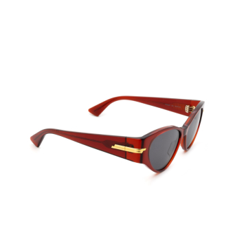 Bottega Veneta® Cat-eye Sunglasses: BV1002S color Burgundy 003.