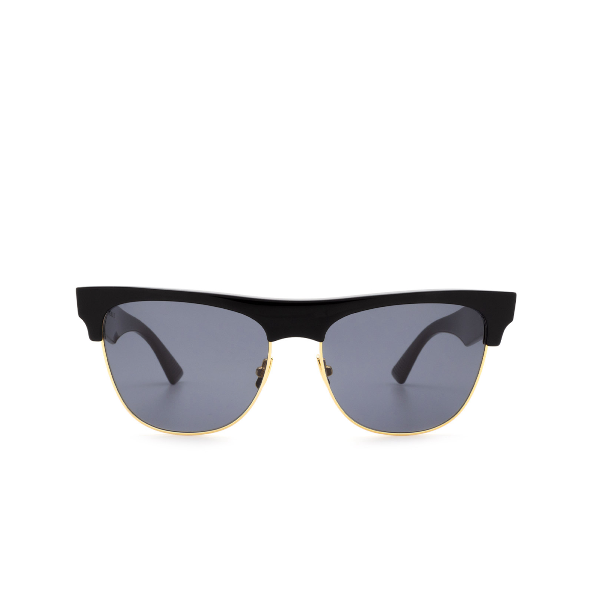 Bottega Veneta® Square Sunglasses: BV1003S color Black 001.