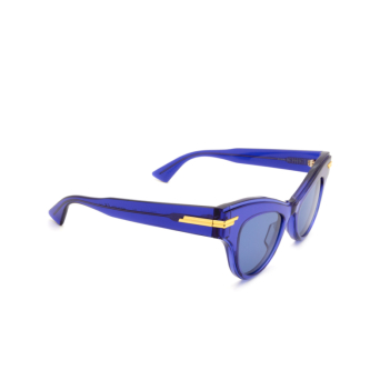 Bottega Veneta® Cat-eye Sunglasses: BV1004S color Blue 004.