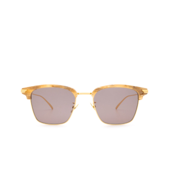 Bottega Veneta® Square Sunglasses: BV1007SK color Beige 005.