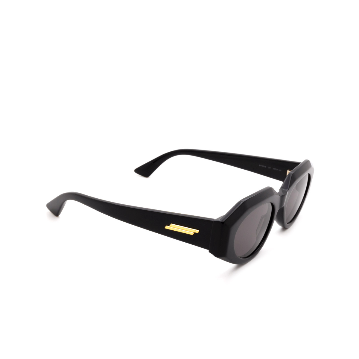 Bottega Veneta® Cat-eye Sunglasses: BV1031S color Black 001.