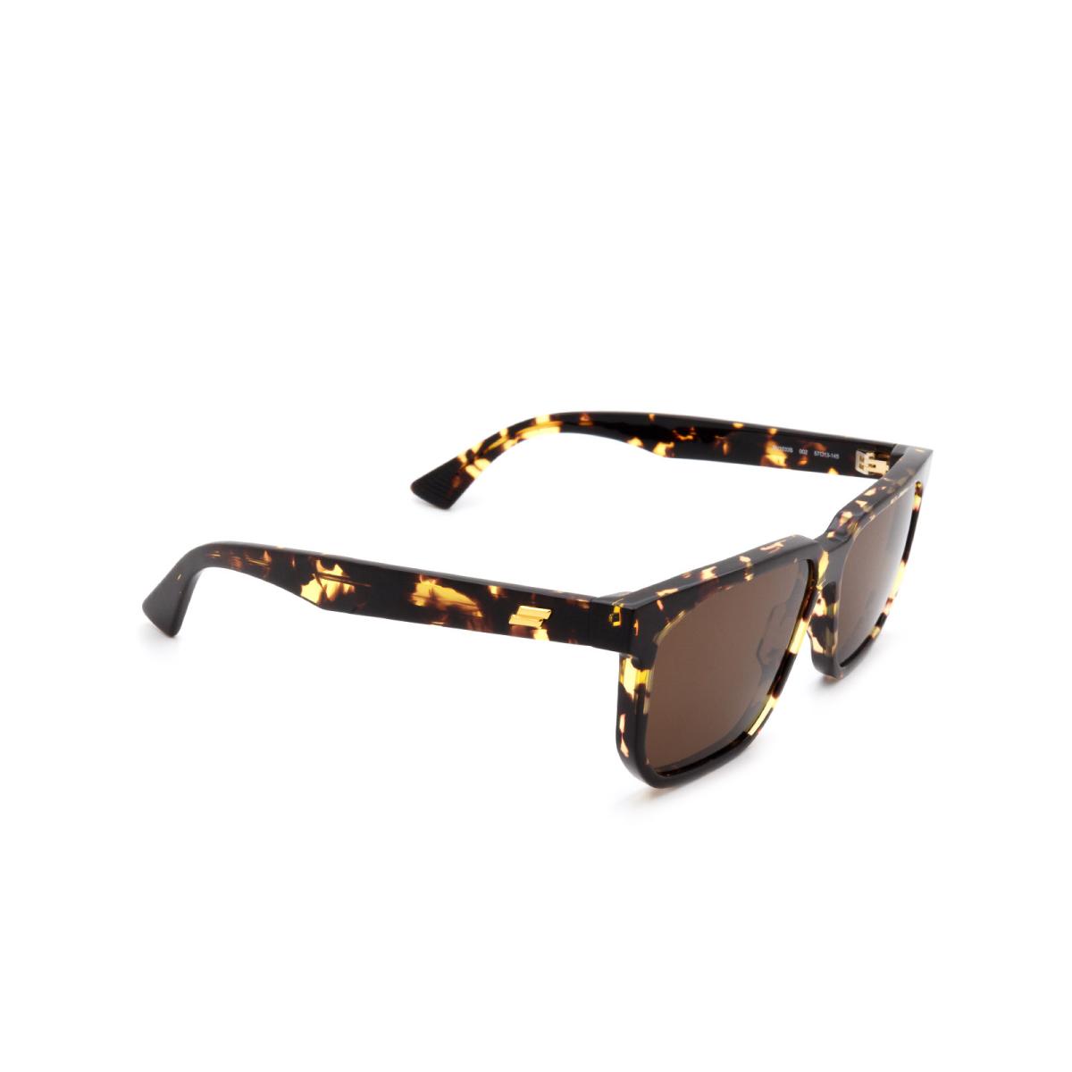 Bottega Veneta® Square Sunglasses: BV1033S color Havana 002.