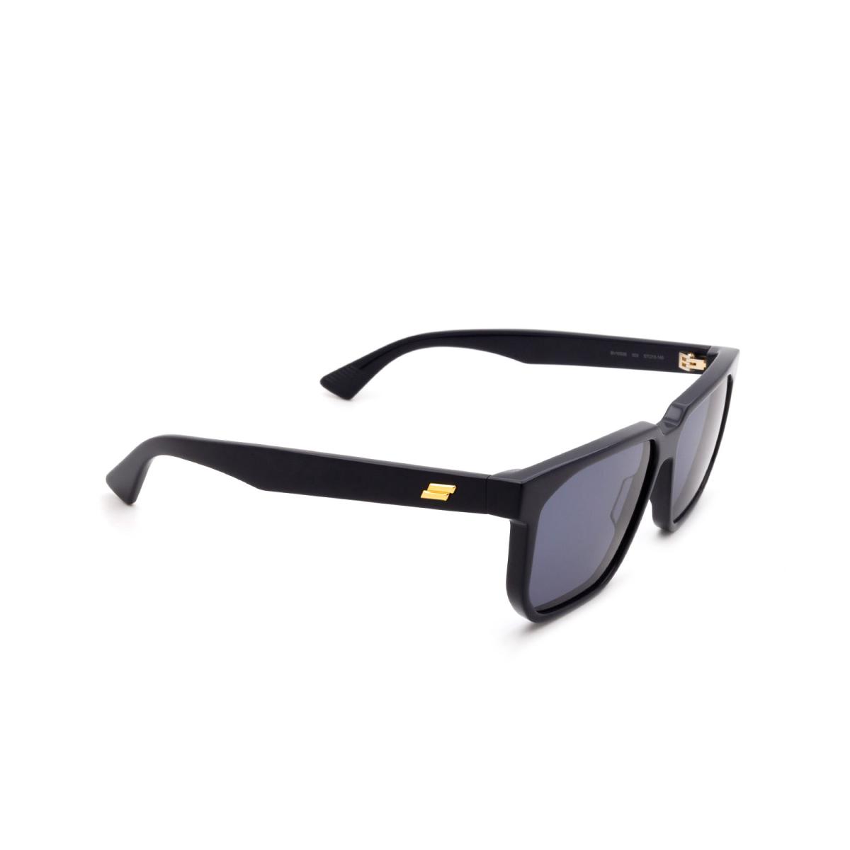 Bottega Veneta® Square Sunglasses: BV1033S color Blue 003.