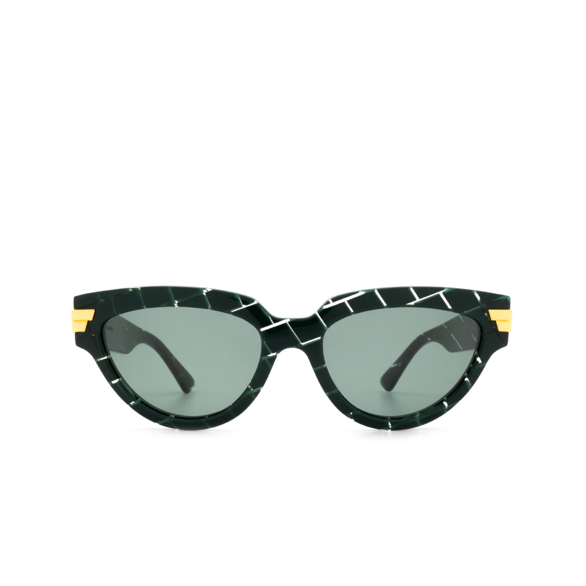 Bottega Veneta® Cat-eye Sunglasses: BV1035S color Green 004.