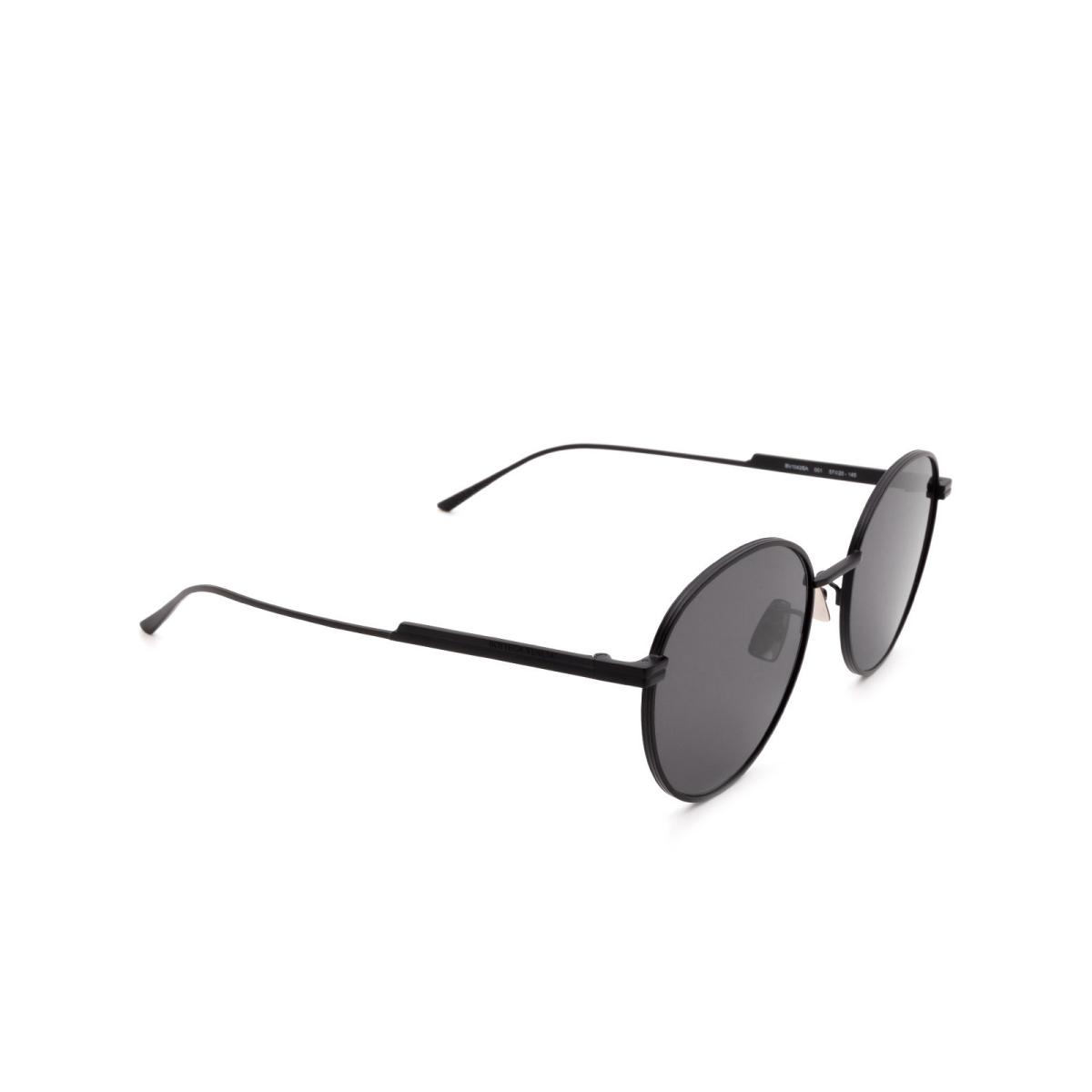 Bottega Veneta® Round Sunglasses: BV1042SA color Black 001.