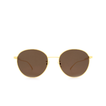 Bottega Veneta® Round Sunglasses: BV1042SA color Gold 002.