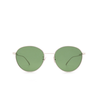 Bottega Veneta® Round Sunglasses: BV1042SA color Silver 004.