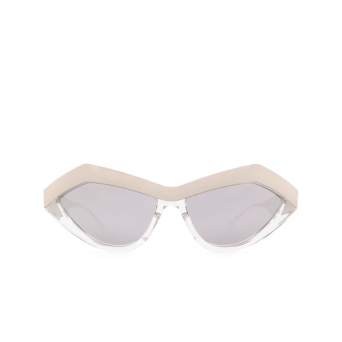 Bottega Veneta® Cat-eye Sunglasses: BV1055S color Silver 002.