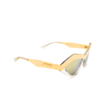 Bottega Veneta® Irregular Sunglasses: BV1055S color Gold 003.