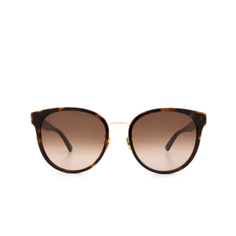 Bottega Veneta® Round Sunglasses: BV1081SK color Havana 003.