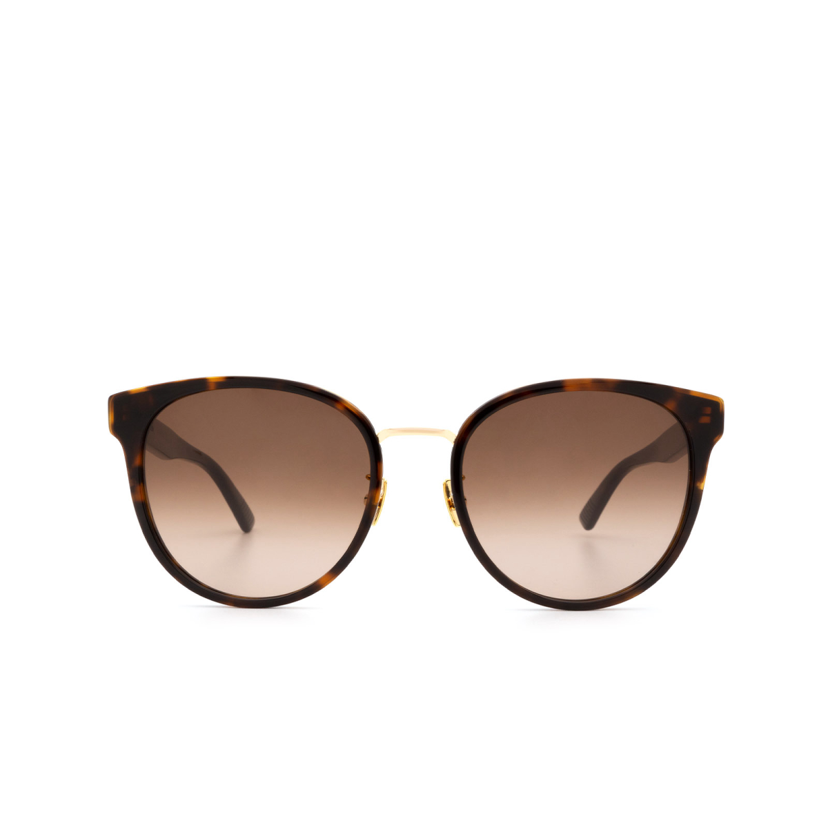 Bottega Veneta® Round Sunglasses: BV1081SK color Havana 003.