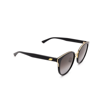 Bottega Veneta® Round Sunglasses: BV1081SK color Black 004.