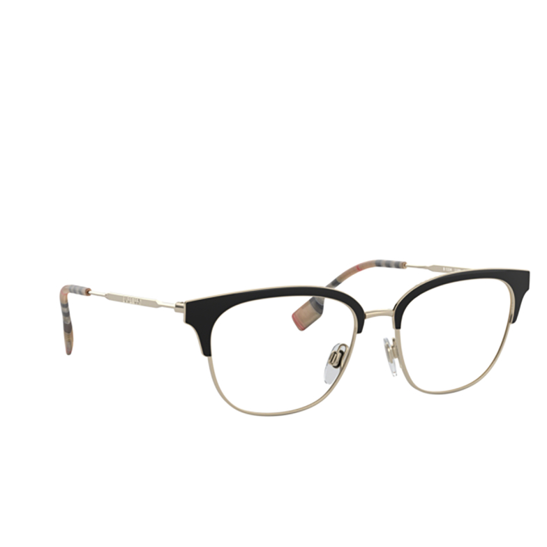 Burberry® Square Eyeglasses: BE1334 color Pale Gold / Black 1109.