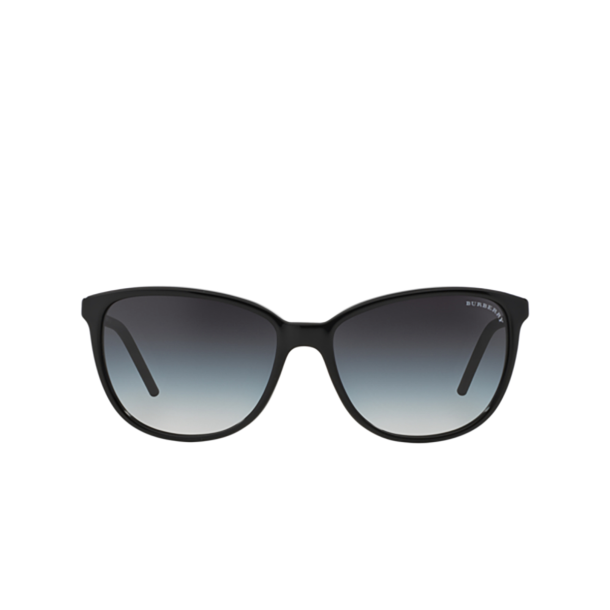 Burberry® Cat-eye Sunglasses: BE4180 color Black 30018G - front view.