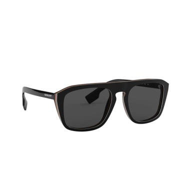 Burberry® Square Sunglasses: BE4286 color Check Multilayer Black 379887.