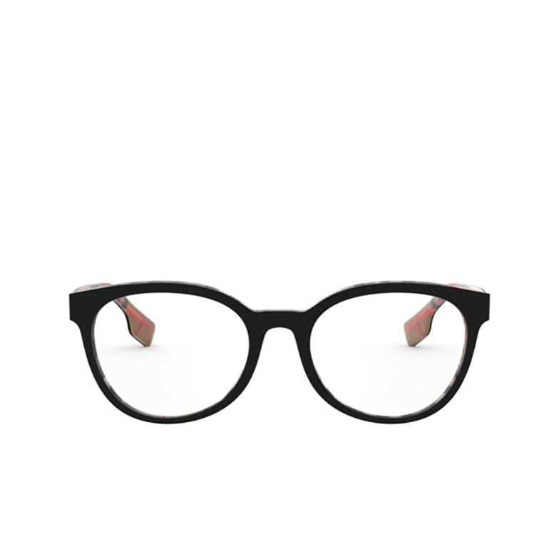 Burberry® Round Eyeglasses: Sloane BE2315 color Top Black On Vintage Check 3838.