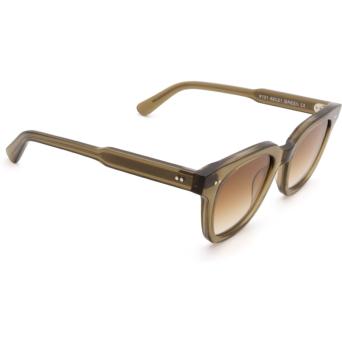 Chimi® Square Sunglasses: #101 color Olive Green Green.