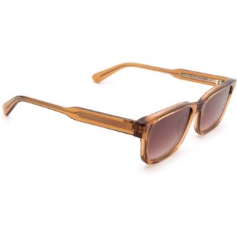 Chimi® Rectangle Sunglasses: #106 color Brown Cinnamon Brown.
