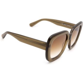 Chimi® Square Sunglasses: #108 color Olive Green Green.