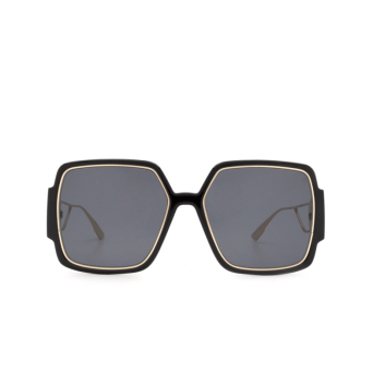 Dior® Square Sunglasses: 30MONTAIGNE2 color Black Gold 2M2/2K.