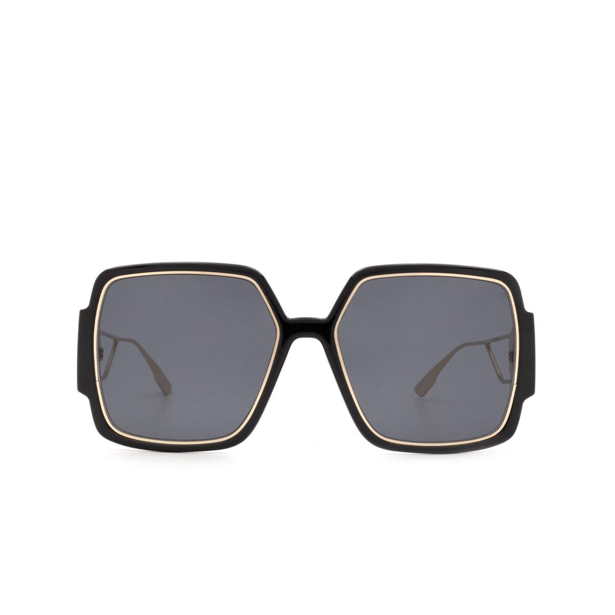 Dior® Square Sunglasses: 30MONTAIGNE2 color Black Gold 2M2/2K.