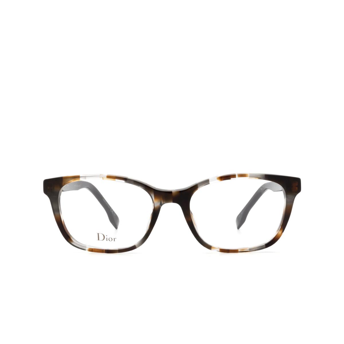 Dior® Butterfly Eyeglasses: DIORETOILE2 color Grey Havana Aci.