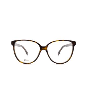 Dior® Butterfly Eyeglasses: DIORETOILE3 color Dark Havana 086.