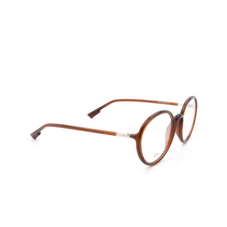 Dior® Round Eyeglasses: DIORSOSTELLAIREO2 color Brown 2LF.