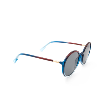 Dior® Round Sunglasses: SOSTELLAIRE2 color Burgundy Shaded 7W5/2K.