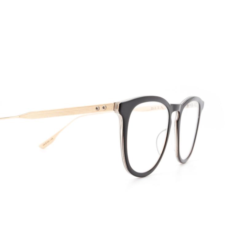 Dita® Square Eyeglasses: DTX105 color Blk-gld.