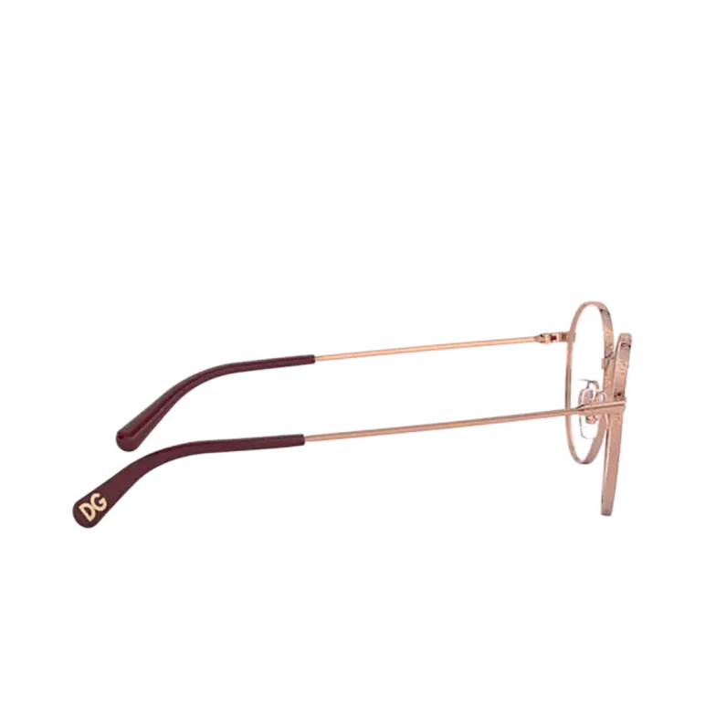 Dolce & Gabbana® Round Eyeglasses: DG1322 color Pink Gold / Bordeaux 1333.