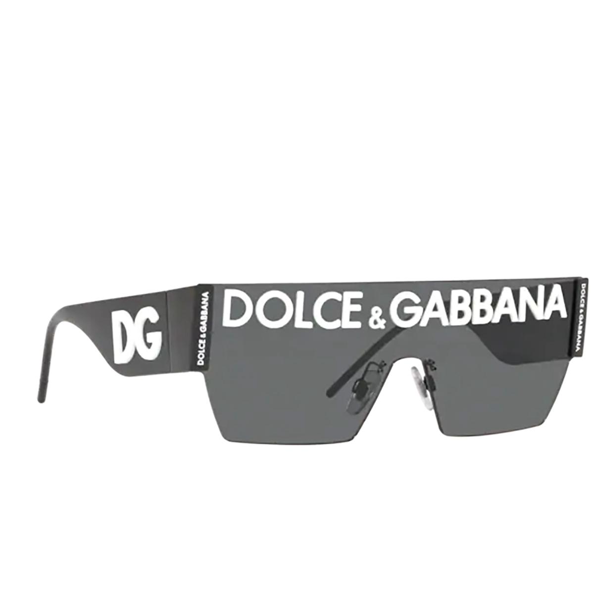 Dolce & Gabbana® Mask Sunglasses: DG2233 color Black 01/87.