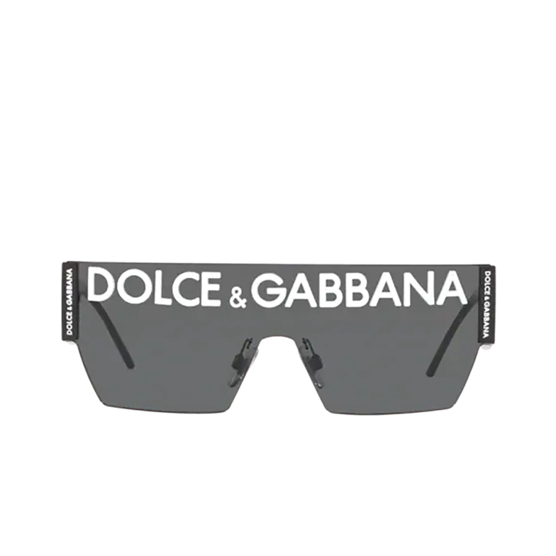 Dolce & Gabbana® Mask Sunglasses: DG2233 color Black 01/87.