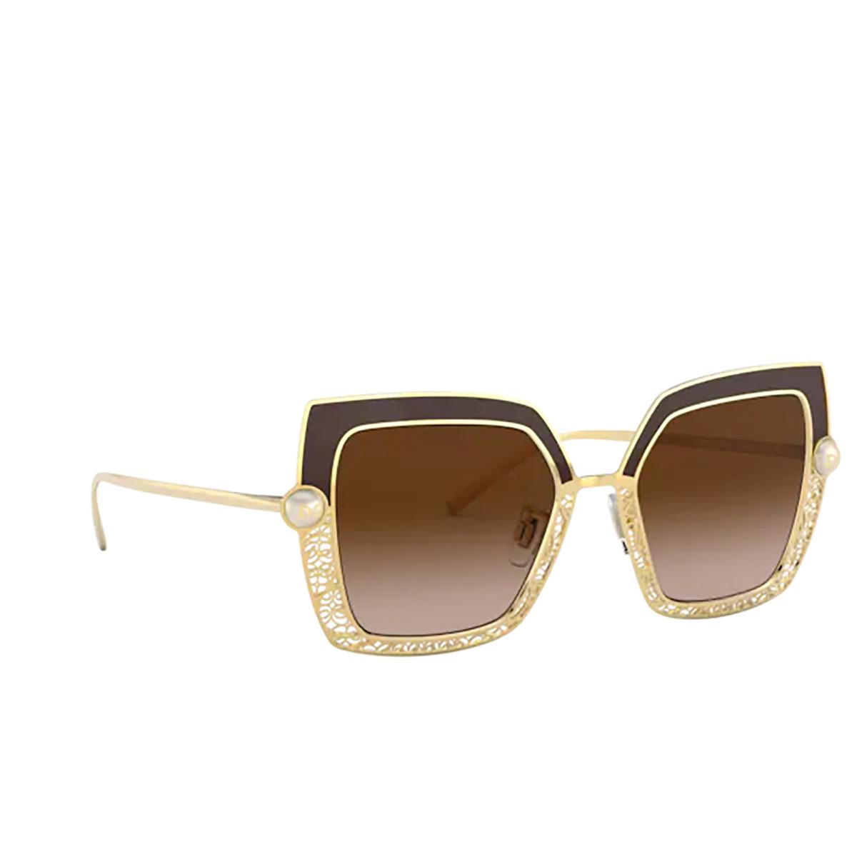 Dolce & Gabbana® Square Sunglasses: DG2251H color Brown 132013.